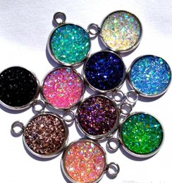 Wholesale Making Resin Beads - 20pcs lot resin druzy Beads for Jewelry Making Loose Lampwork Charms DIY Beads for Bracelet necklace earrings Wholesale in Bulk Low Price