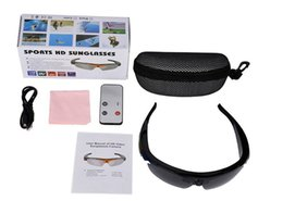 Wholesale Full Audio - HD 1080P Sunglasses Fashion Sport Camcorder Digital Audio Camera Video DVR Cam Recorder For Outdoor with Remote Controller