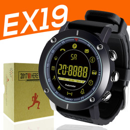 Wholesale home sms control - 2018 EX19 smart watch 5ATM swim waterproof Call SMS Alert Pedometer stopwatch fitness tracker Smartwatch Wristwatch for IOS Android iphone