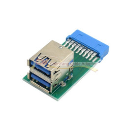 Slot-motherboards online-Vertikale Dual USB 3.0 A Typ Buchse auf Motherboard 20 Pin Box Header Slot Adapter PCBA