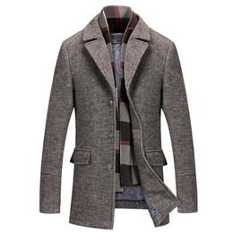 Uomini di alta qualità 50% lana cappotto lungo cappotto invernale uomini lunghi più spessi caldo trench inverno caldo piumini formato 4XL da