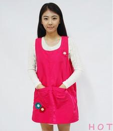 Одежда для магазина кофе онлайн-Экология рукава высокого Qaulity детсада Одежда кухня Фартук для женщин приготовления кофе Чай Nail Shop Работы Wear Печать логотипа