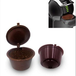 Wholesale Basket Plastic - Refillable Dolce Gusto Coffee Capsules Nescafe Dolce Gusto Reusable Capsule Refill Dolce Gusto Capsules 200pcs OOA4395