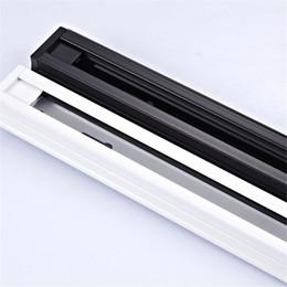 Wholesale I Ce - 1M Track Rail for led track light , 2 wires Rails ,black white body, Connectors for the rails , L I T connectors