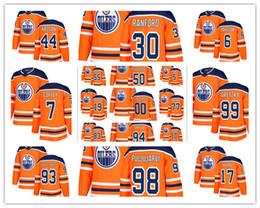 Wholesale Coffey Jersey - 2017-2018 New embroidery Hockey Jerseys Edmonton Oiler 93# Nugent-Hopkins Coffey Smyth Kassian Gketzky Puljujarvi Larsson Kurri Any custom