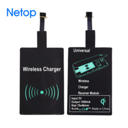 Wholesale Apple Input - Netop Qi Wireless Charger Receiver Module Input 5V Fast charging adapter Universal For Android iphone Free DHL Shipping
