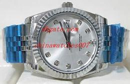 Горячие продажи роскошные часы высокое качество роскошные 116234 18K белое золото серебряный циферблат концентрические циферблат 36 мм автоматические часы Часы от Поставщики модель потока воды