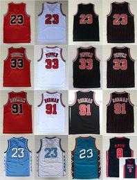 Wholesale college sport teams - Mens 23 Michael Basketball Jerseys North Carolina College Breathable Sports Jersey#33 Scottie Pippen 91# Dennis Rodman Team Dream USA