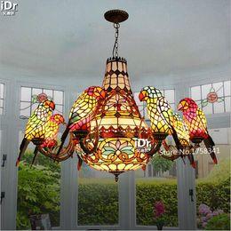 Wholesale Headlight Switch Knob - Creative personality parrot lamp headlights European project long living room lights Villa Restaurant Chandeliers