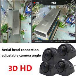 Monitor de camara para buses online-Bus coche 360 panorámica sin problemas de conducción registrador de estacionamiento sistema de vista aérea inversa cámara de ángulo ajustable + cabeza de aviación (3D + 1080P)