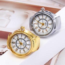 Canada Horloge Femmes Bague Montre Cadran Quartz Montre Analogique Creative Acier Cool relogio élastique hommes dames Bague cheap elastic silicone Offre