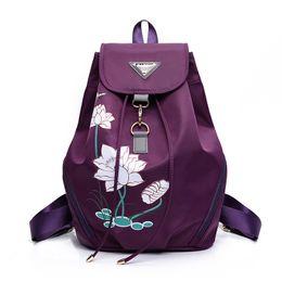 Sac à main d'impression coréenne en Ligne-nouveau sac à bandoulière en nylon imprimé sac à main version coréenne du sac à dos de voyage imperméable sauvage simple marée