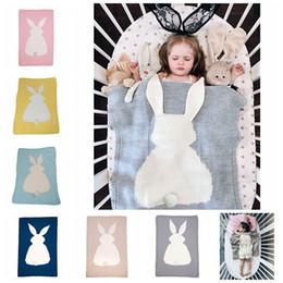 Кролик детское одеяло онлайн-6 цветов 75 * 105 см детские одеяла INS Кролик уха пеленание трикотажные животных постельные принадлежности малыша мода пеленать новорожденный Кролик одеяло