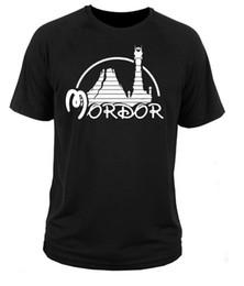 Herr ringe drucken online-Siebdruck T-Shirts Oansatz Kurzarm Kurze Herren Retro Mordor Herren Ringe Tolkien Hobbit T-Shirts