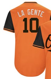 aa190588c Baltimore 10 Adam Jones LA GENTE 19 Chris Davis CRUSH 37 Dylan Bundy DILLY  36 CALEB JOSEPH CALE 2018 Players  Weekend Baseball Jersey
