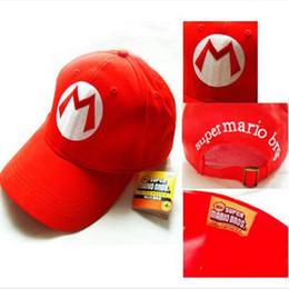 Super Mario Gorras de algodón sombrero Rojo Mario y gorra luigi Hip Hop Anime  Cosplay Traje de Halloween Hebilla Sombreros Mujeres Hombres Gorra de  béisbol ... ad06d836bf9