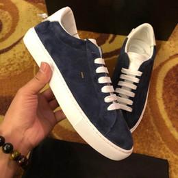 Wholesale model button - Luxury Brand PARIS shoes suede High quality men's shoes lace-up Designer shoes With original box size 38-44 model 272240701