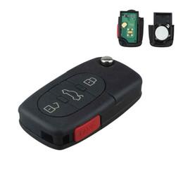 Audi a4 chips online-4 teclas de control remoto sin llave de entrada Fob para Audi A4 A6 A8 TT con ID48 Glass Chip 315MHZ