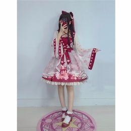 vestiti kawaii Sconti Lolita Chiffon Dress Goldfish ricamo stampato floreale Kawaii carino stile cinese Bow Princess Costumi Cosplay