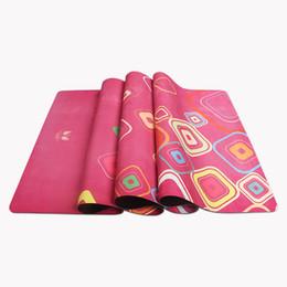 Caucho 4mm online-4 mm de gamuza de caucho natural estera de yoga que absorbe el sudor y no se desliza estera de yoga para el ejercicio 183 * 68 cm