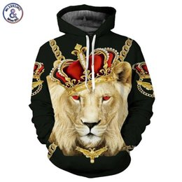 Wholesale Skull Print Hoodie - Hip Hop Lion King Hoodies Men Women Unisex Sweatshirts 3d Print Colorful Blocks Skull Hooded Hoodies Hip Hop Hoodies