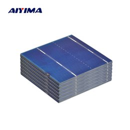 diy module Coupons - module AIYIMA 100Pcs Panel Solars Cell 52x52MM 0.5V 0.46W Color Crystal Solar Module DIY Battery Charger Sun Power Bank