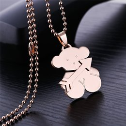 Wholesale Arrow Day - 2018 New Design Female Cupid Arrow charms necklace El oso de collar High quality no fade Fashion Gift Jewelry