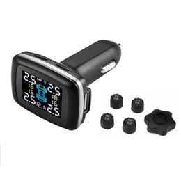 Беспроводное зарядное устройство 12v онлайн-TP620 Professional 12V Wireless Smart TPMS Система контроля давления в шинах Цифровое автомобильное зарядное устройство реального времени Датчик давления в шинах