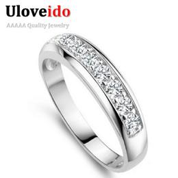Wholesale Garden Engagement - Uloveido Wedding Band Rings for Women Engagement Ring Female 2017 Garden Ring Femininity Anel Masculino Anillos Jewelry J294
