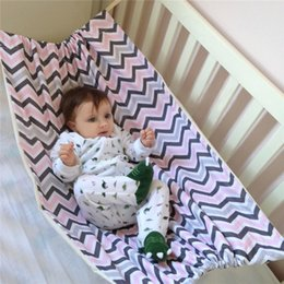 Wholesale folding baby crib portable - Safety Baby Swing cotton Hammock Infant Removabl Bed Sleeping Bed Detachable Portable Folding Baby Bouncer Infant Crib for Newborn CHD01