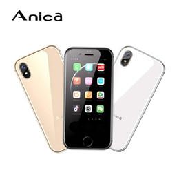 mini sim android мобильные телефоны Скидка Оригинал Band Anica I8 Mini Android 6.0 смартфон MTK6580 Quad Core 1 ГБ + 8 ГБ 3G WIFI Мобильный телефон 5.0MP Камера Dual Sim S8 X мобильный телефон