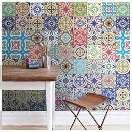 Wholesale Texture Wall Paper Roll - 2017 new wholesale blue texture pattern collages wall background poster mural wallpaper for living room kitchen room discount