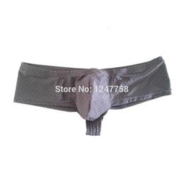 Les sous-vêtements augmentent le renflement en Ligne-Les hommes renforcent la poche gonflée Mini Boxer Sexy Guys Hip Sous-vêtements élastiques Shiny Dots Micro Trunks Pants