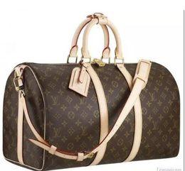 Maletas de mujer vintage online-Nueva moda para hombres y mujeres bolsa de viaje bolsa de lona, diseñador de marca bolsa de equipaje bolsa de deportes de gran capacidad 55cm