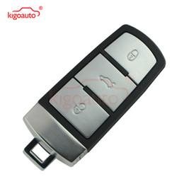 Chave inteligente vw on-line-3C0 959 752 BA 434MHz 3button chave inteligente com chip de ID48 para VW B6 3C B7 Magotan CC carro kigoauto 752BA remoto keyless