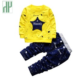 Wholesale Hip Hop Clothing For Girls - Spring Kids Clothes Star printing hip hop costume for girls children clothing Full Length Cotton Casual toddler boys clothing