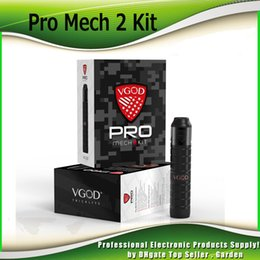 Wholesale Pro Single - Original VGOD Pro Mech 2 Kits 24mm Diameter ProMech 2 Mechanical Box Mod 2ml Elite RDA Atomizer Kit 100% Authentic