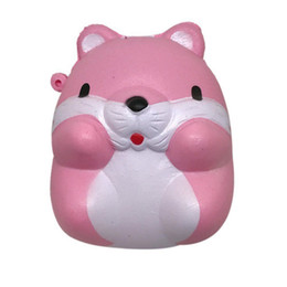 Wholesale fun stuff - PU Squishies Kawaii Hamster Squishy Slow Rising Soft Squeeze Stuffed Kids Toys Phone Straps Fun Pressure Release Toy Gift