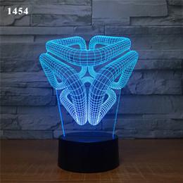 7 Farben Licht Änderungen Home Dekoration Magie Struktur Lampe Erstaunliche Visualisierung Optische Täuschung Super 3D LED Nachtlicht von Fabrikanten