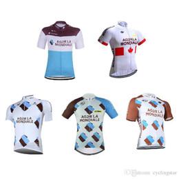 2018 pro team AG2R maglia da ciclismo 3 tasche uomo traspirante Tour de france estate abbigliamento bici MTB Bicicletta maillot Ropa ciclismo C2201 supplier pocket bikes for da biciclette a tasca per fornitori