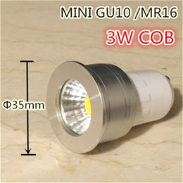 Wholesale Led Small Mini Bulb - small lamp mini gu10 35mm spotlight 3w dimmable led bulb 220v 12v mr16 mr11 spot lamp for living room bedroom table small