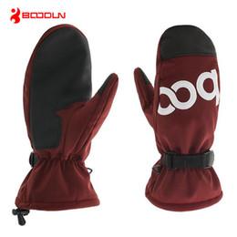 Водонепроницаемые перчатки для мотоциклов онлайн-Boodun PU Waterproof Thermal Winter Warm Windproof Ski Gloves Snowboard Snowmobile Cycling Motorcycle Gloves Mittens