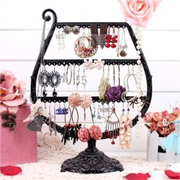 Wholesale Metal Jewelry Tree - Metal Earrings Organizer Cup Shape Earring Holder Jewelry Display Necklace Display Rack Earring Srorage Tree Classic A160-2