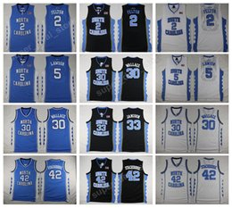 Wholesale Gold Carolina - North Carolina Tar Heels Basketball 42 Jerry Stackhouse Jersey 30 Rasheed Wallace 33 Bright Antawn Raymond Felton Ty Lawson College Jerseys
