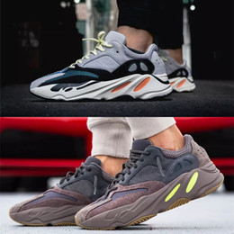 100% authentic b5d46 f420a 2019 Con Box Adidas Yeezy Boost 700 Wave Runner Malva EE9614 B75571 Scarpe  da corsa Uomo Donna B75571 Cuciture colore Top Quality Athletics Sneakers  US 5- ...