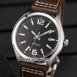 Wholesale family fold - Brand New Ingenieur Family Black Dial Japan Miyota 821A Automatic Mens Watch Sapphire Glass Silver Case Leather Strap High Quality Watches