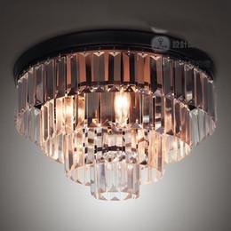 Lámpara de Techo de la Sala Redonda de Cristal Clásico Americano Vintage Dormitorio Europeo Pastel de Cristal Accesorios de Iluminación de Techo desde fabricantes