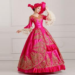 2019 costume renaissance victorienne YF Vintage Renaissance Costume Robe de soirée victorienne Princesse Balle Costume Costume Fantaisie Robe sexy costume renaissance victorienne pas cher