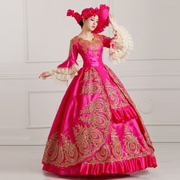 YF Vintage Rönesans Kostüm Victoria Parti Elbise Prenses Balo Kostüm Fantezi Elbise seksi cheap victorian party gowns nereden victorian parti önlükleri tedarikçiler