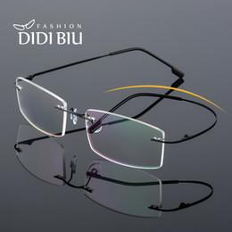 TR90 Pieghevole Titanio Montatura per occhiali senza montatura Miopia Montatura per occhiali da vista rettangolari in resina trasparente montature per occhiali UN1008 da